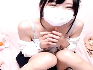 Japanese unskilful giggles in the long run b for a long time watching guy jerk o