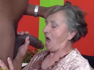 Granny, Interracial, Old