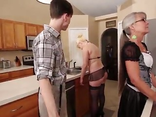 Mother added to Stepsis Three-Way after inure - Leilani Lei Fifi Foxx