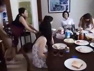 Naughty Chinese henchman is banging his wifey before of his family, and loving it