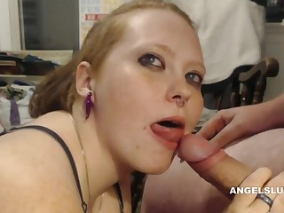 Blowjob, Couple, Close up, Hardcore, Homemade, Milf, Redhead
